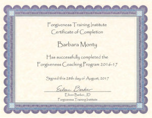 Barbara Monty lawyer certified Forgiveness Coach